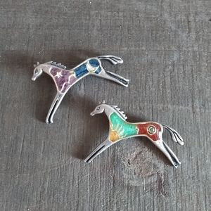Carolyn pollack horse brooches sun moon